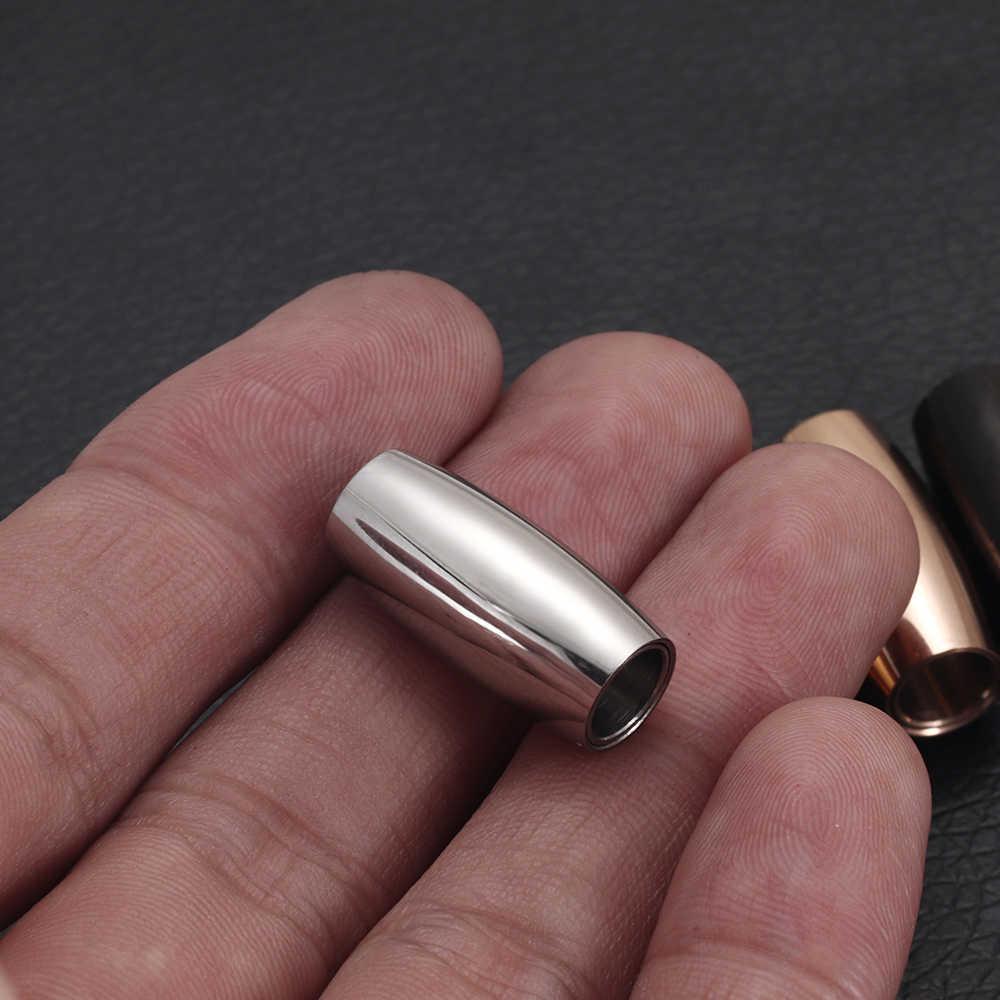 2 stücke Edelstahl Magnetische Haken Loch 6mm für Leder Schnur Magnet Spitze Schnalle für Armband Schmuck DIY Herstellung zubehör