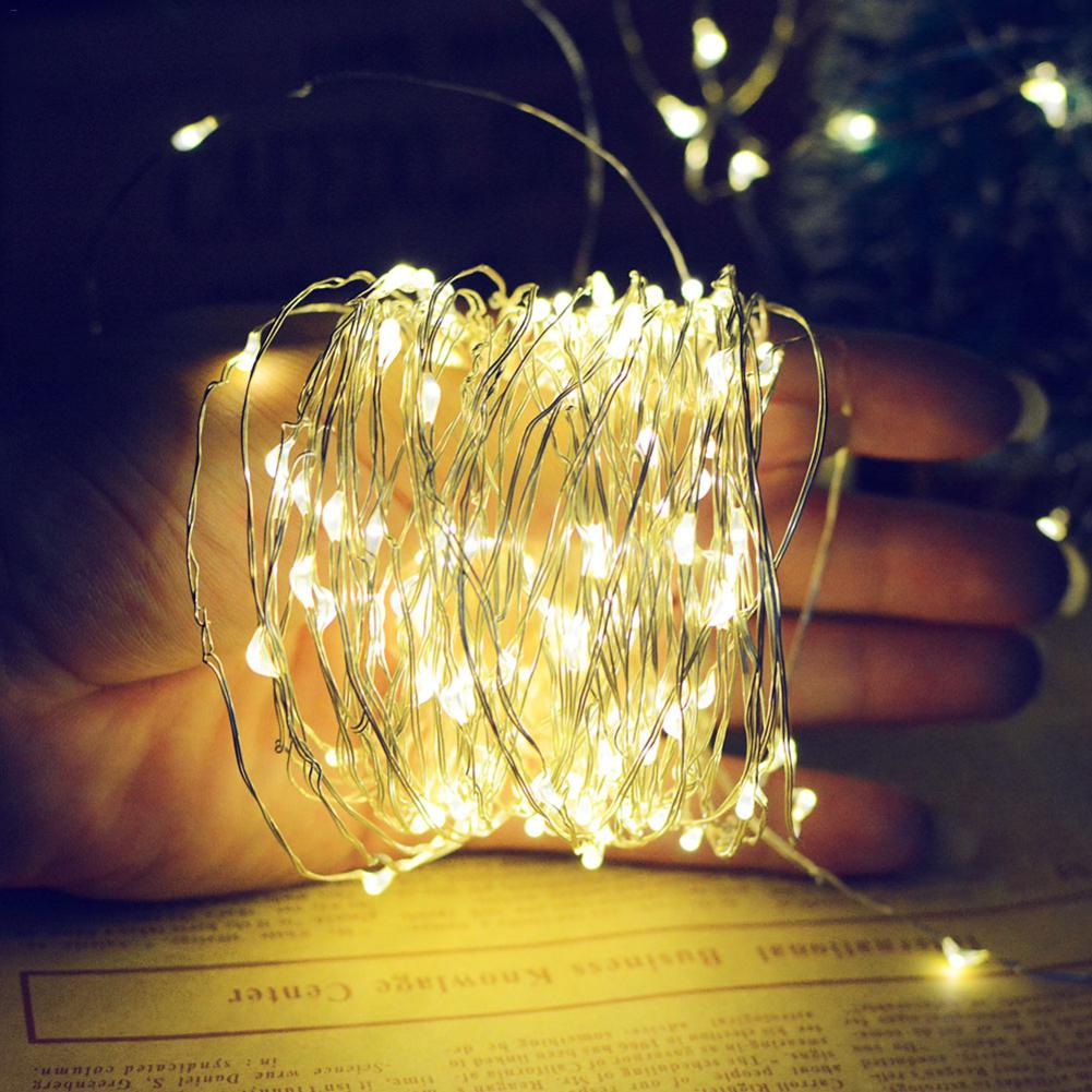 20M 200 Led Lights Small Solar Copper String Lights Holiday Christmas Fairy Lights Decoration Lamp Garland For Wedding Party