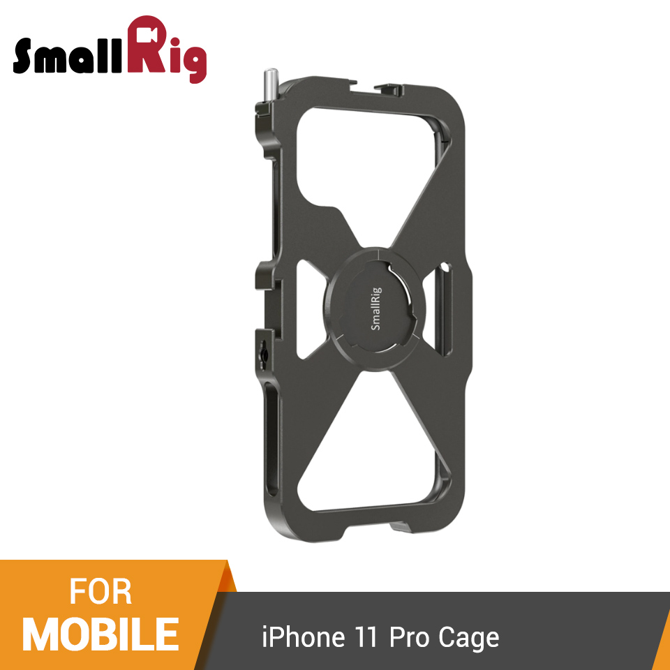 SmallRig Pro Mobile Cage For IPhone 11 Pro Vlogging Accessory Mobile Phone Cage With Cold Shoe Mount Vlog Shooting Kit -2471
