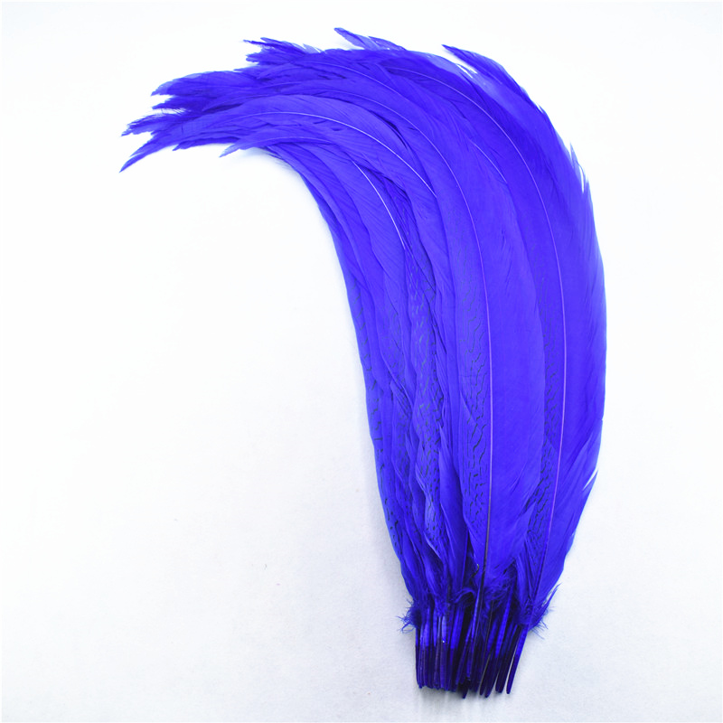 """50 Pieces 20-22/"""" Blue Dyed Over Natural Long Ringneck Pheasant Tail Feather"""