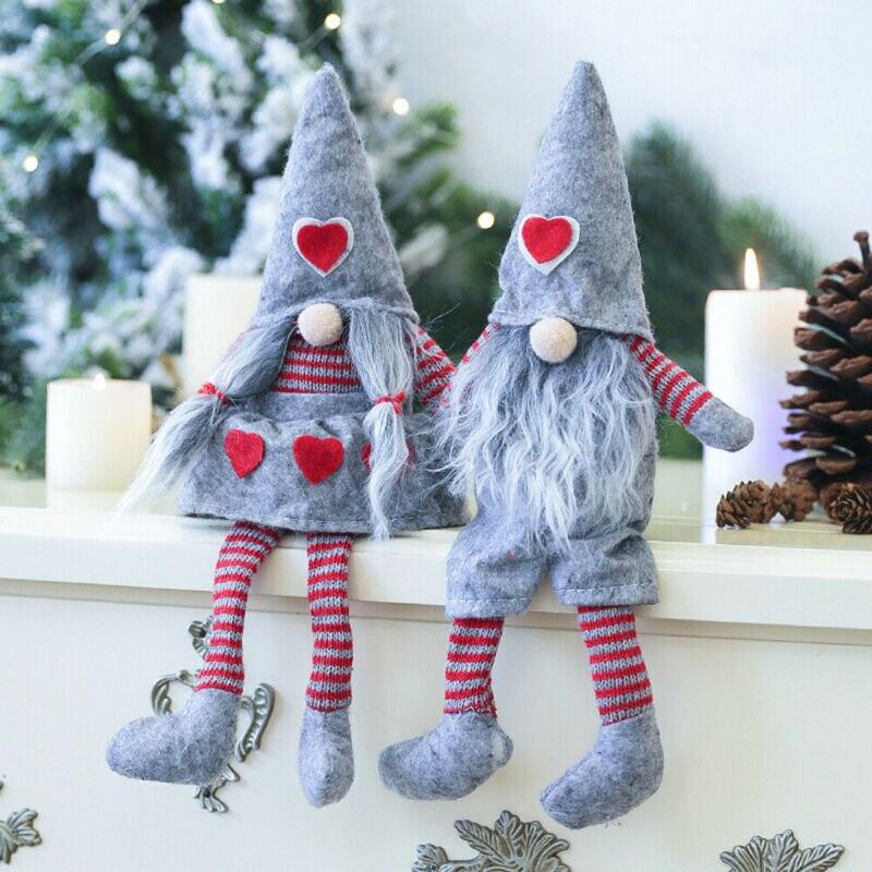 33*12 см с Рождеством, длинная шляпа, Шведский Санта-гном, плюшевые куклы, украшения для рождественской елки, Декор