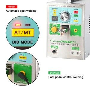 Image 5 - SUNKKO709AD + Puntlassen Machine Lithium Batterij Inductie Automatische Puntlassen Machine Met 70B Spot Lassen Pen T12 Solder