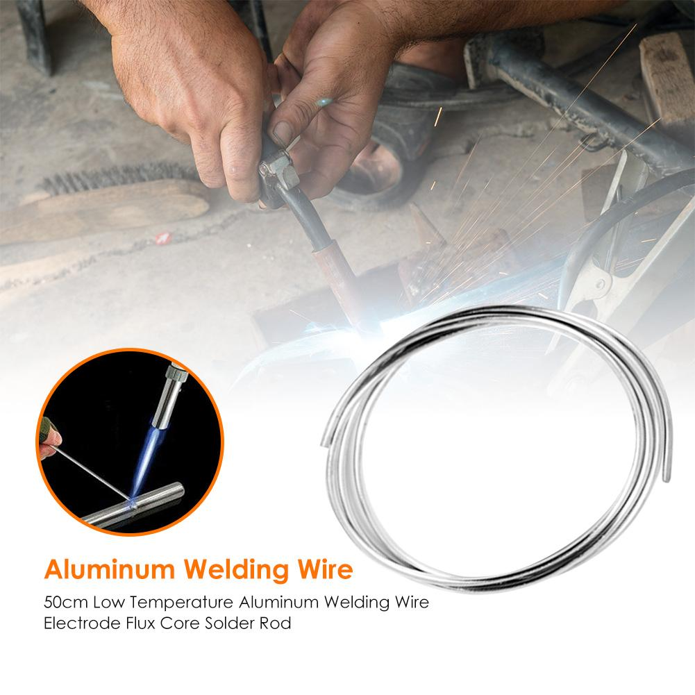 500mm Low Temperature Aluminum Solder Good Welding Performance Fewer Gas Holes Rod Welding Wire Flux Cored Soldering Rod