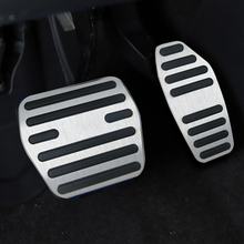 For  NISSAN 2015 year Qashqai AT car pedal gas foot rest stainless modified pad non slip performance aluminium fuel