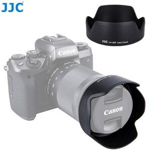 Image 1 - JJC Camera Flower Shade osłona obiektywu do CANON EF M 18 150mm obiektyw do Canon EOS M200 M100 M50 M10 M6 Mark II M5 wymień Canon EW 60F