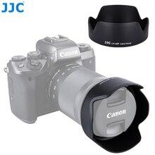 JJC 카메라 꽃 그늘 렌즈 후드 캐논 EF M 18 150mm 렌즈 캐논 EOS M200 M100 M50 M10 M6 마크 II M5 캐논 EW 60F 교체
