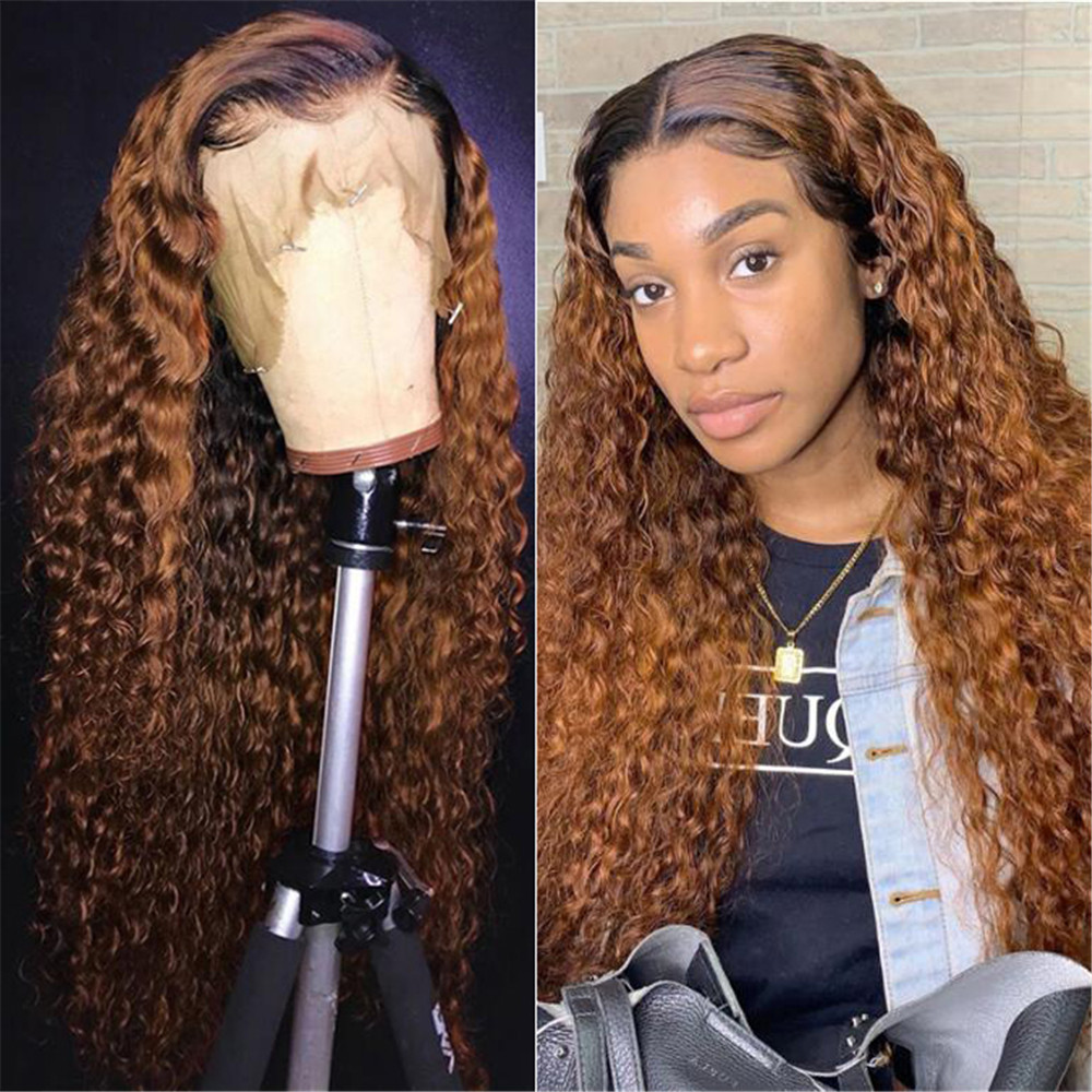 Loose Wave Lace Front Human Hair Wig 13x6 Deep Part Ombre Blonde Brazilian Remy Hair Bleached Knots Glueless Wig With Baby Hair