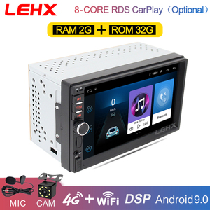 LEHX 2 Din Android 9.0 Ram2G + 32G auto radio Car Multimedia Playe For VW Nissan Hyundai Kia toyota rav4 Nissan t31 X-trail tiia