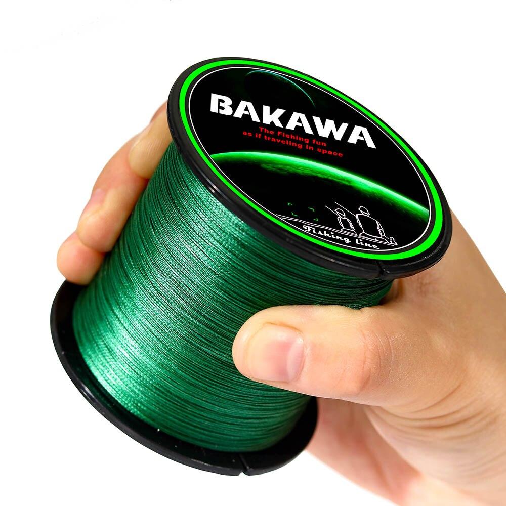 BAKAWA olta 8 standları 100m 150m 300m 500m çok renkli % 100% PE tel Multifilament japon güçlü pürüzsüz dayanıklı