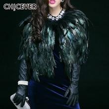 Chicever パッチワークの羽のベスト o ネックカーディガン特大ゆるいカジュアルなタッセルのベスト女性 2020 秋冬ファッション