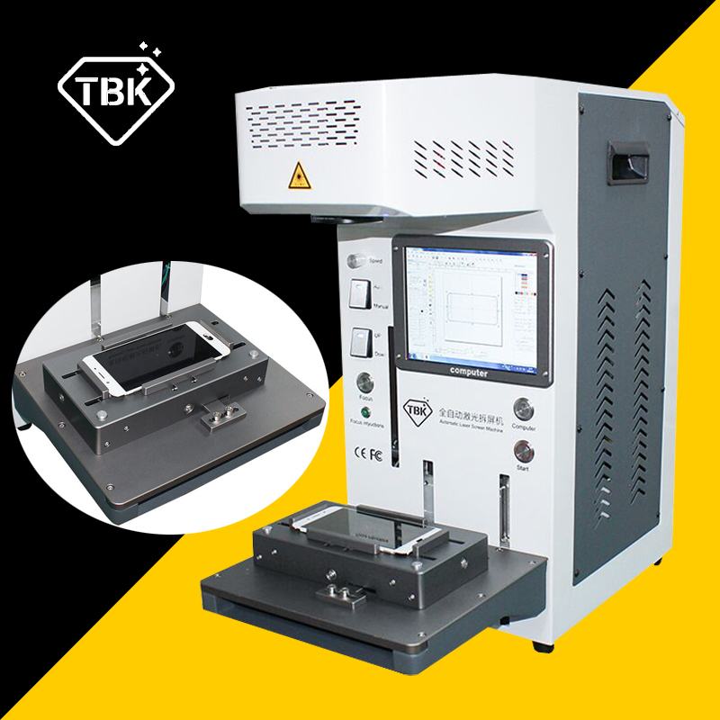 TBK-958A 20W Laser Cutting Machine for <font><b>iPhone</b></font> <font><b>8</b></font> 11 pro X <font><b>Back</b></font> <font><b>Glass</b></font> Remover LCD Frame <font><b>Repair</b></font> Laser Separating Engraving Machine image