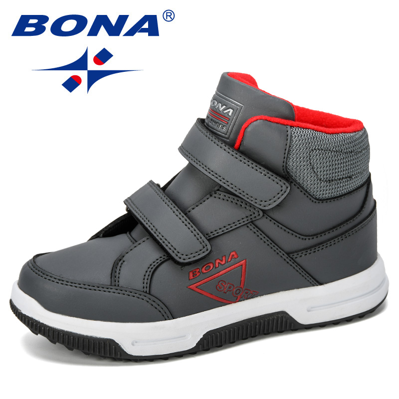 BONA 2019 New Designer Autumn Winter Kids Shoes Classic Children Boots Girls Snow Boots PU Leather Boots Flats Sneakers Trendy
