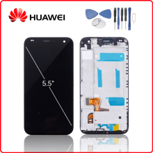 Original For HUAWEI Ascend G7 LCD Display Touch Screen Digitizer For Huawei G7 Display with Frame Replacement G7-L01 G7-L03 LCD купить недорого в Москве