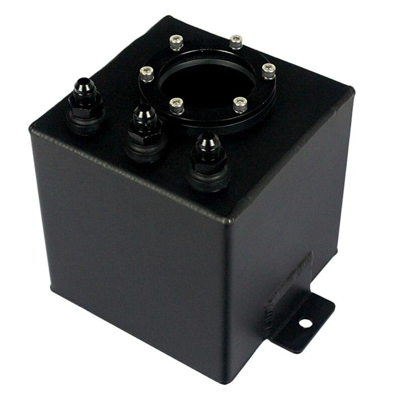 Réservoir en aluminium de montée subite de carburant de billette en aluminium d'an6 2L/réservoir de montée subite d'an6 avec des garnitures noir