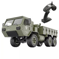 FY004A 1:16 6WD RC Car Lightweight Army Truck Proportional Simulation Funny Model Toys 2.4G Racing Off Road Gift Children Hobby