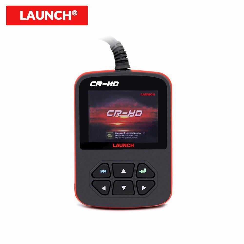 LAUNCH Creader CR-HD OBD2 сканер сверхмощный Автомобильный сканер 100% Оригинальный Launch X431 Creader CR-HD считыватель кодов OBD