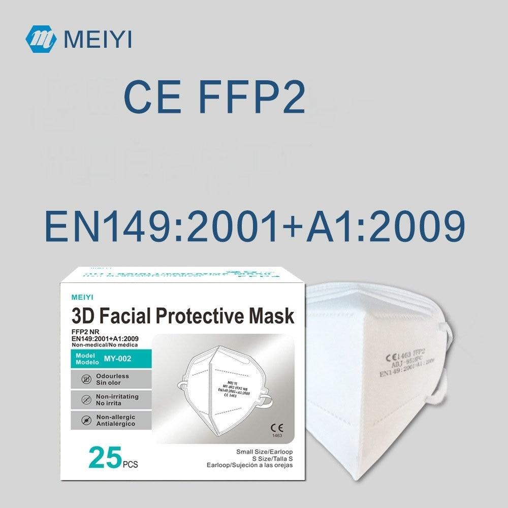 MEIYI 5 Layer FFP2 Mask CE KN95 Mascarillas Approved hygienic Protective Mouth Face Mask KN95 Respirator FFP2MASK Masken