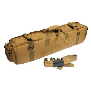Image 3 - M249 التكتيكية بندقية حقيبة النايلون الحافظة الصيد Airsoft الألوان حقيبة بندقية في الهواء الطلق حقيبة صيد متعددة الوظائف على ظهره