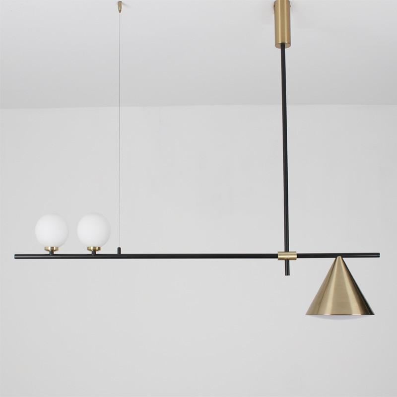 Modern Chandelier Nordic Lighting Restaurant Pendant Lamps Dining Room Fixtures Living Room Dinning Room Lights Glass Pendant