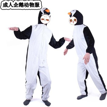 Halloween penguin Costumes Adult men women penguin animal Cosplay clothes Stage Amphibian costumes Animal penguin coveralls фото