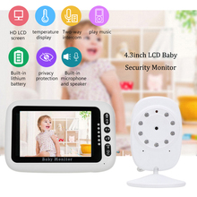 Electric Baby-Monitor Security Phone Camera LCD 4.3 Inch Night Vision IR 2-way Talk With Temperature Sensor Lullaby Songs Zoom цена и фото
