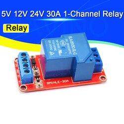 1-канальный релейный модуль высокой мощности 5 в 12 В 24 в 30 А постоянного тока с оптроном уровень H/L Триггер для Arduino Mega AVR PIC DSP ARM