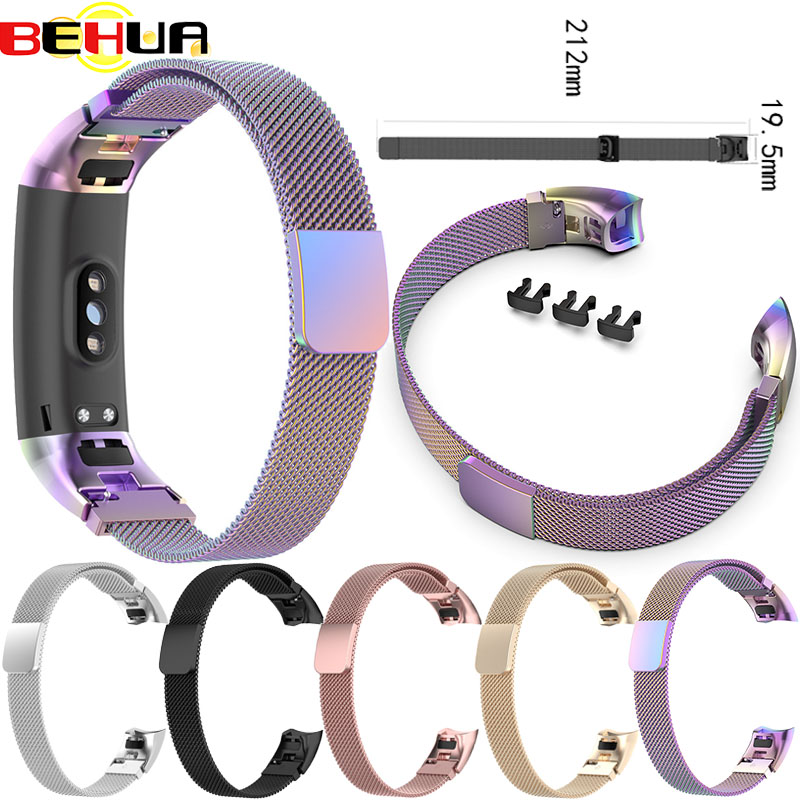 Magnetic Milanese Stainless Steel Watch Band Wristband Band Strap For Huawei Honor Band 4 Band 5 Strap Smart Bracelet Accessorie