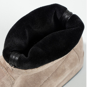 Image 5 - Botas Mujer Invierno 2019 מגפי נשים חורף פרווה Ankel מגפי נשים גבוהה עקבים נעלי מוצק כחול שחור גבירותיי נקבה נעליים