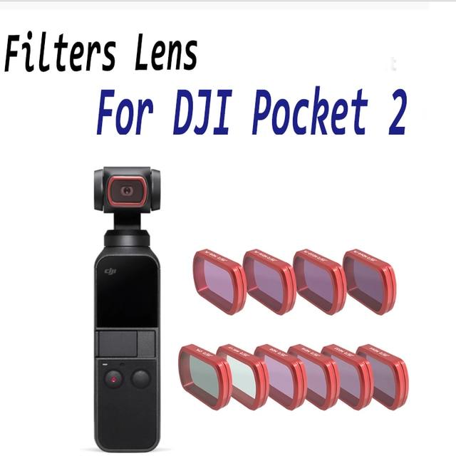 Do filtra DJI Pocket 2 MC UV/CPL/ND 8 16 32 64 PL/filtry kolorowe pokrowiec ochronny do DJI Osmo kieszonkowa kamera ręczna Accessries