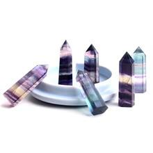 цена на Natural Mini Fluorite Necklaces Crystal Pendants Suspension Gem Stone Quartz Wand Pendulum Necklace Reiki Chakra Women Love Gift