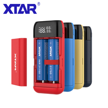 XTAR PB2S 18650 แบตเตอรี่Charger Powerbankสีดำสีแดงสีฟ้าLCD Li Ion Battery Charger 18650 20700 21700 POWER BANK