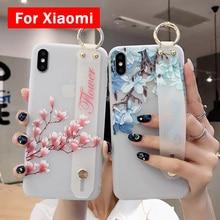 NEW Flower Wrist Strap Case For Xiaomi R
