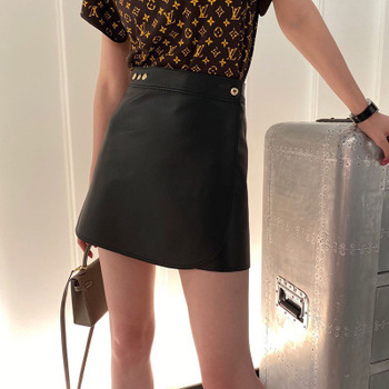 2020 New Fashion Real Genuine Sheep Leather Skirt G40 2020 new fashion real genuine sheep leather skirt g16