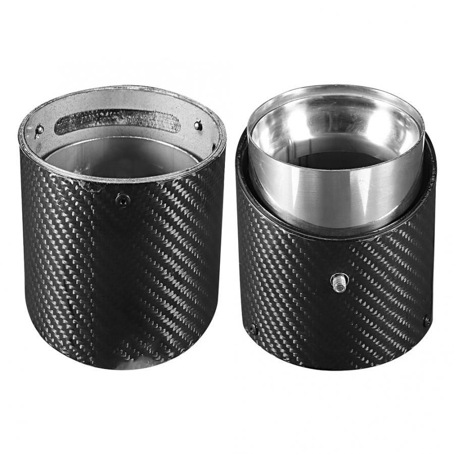 Universal Car Stainless Steel 3.5in Tail Exhaust Pipe Tip Auto Modification Parts auto accessories stainless steel exhaust tube|Mufflers| |  - title=