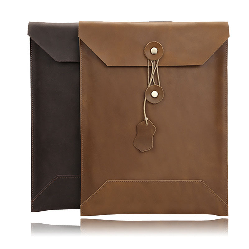 Wholesale Notebook Leather Case 2019 MacBookPro/air 11 Inch 12 Inch 13 Inch 15 Inch Leather Laptop Bag Computer Tablet Case