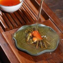 Меняющий цвет чай с крабом лотоса ручной работы в виде листа лотоса краба украшения для игры в чай кунг-фу аксессуары для чая