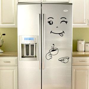 Image 4 - Autocollants muraux avec visage souriant, nouveau, autocollants délicieux, pour réfrigérateur, pour aliments, affiche artistique de décoration, DIY bricolage, 4 Styles