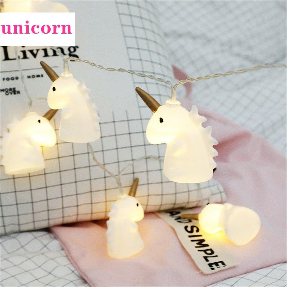 News 2020 Unicorn  Garland Lights String Usb Battery Fairy Tale Lamp Christmas New Year Decor For  Home Interior Children Gift