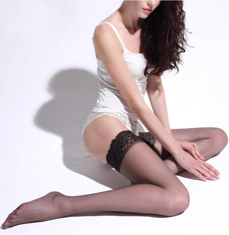 1 Paar Vrouwen Sexy Sheer Lace Top Dij Hoge Kousen Netten Voor Vrouwen Vrouwelijke Kousen Zwart Wit Rood dropship