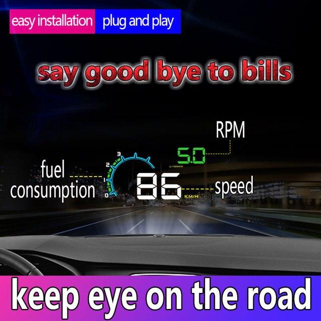 """HUD D3000 4 """"GPS 속도계 자동차 헤드 업 디스플레이 다기능 디지털 속도 고도계 보안 알람 HUD 헤드 업 디스플레이"""