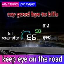 """HUD D3000 4"""" GPS Speedometer Car Head UP Display Multifunction Digital Speed Altitude Meter Security Alarm  HUD Head Up Display"""
