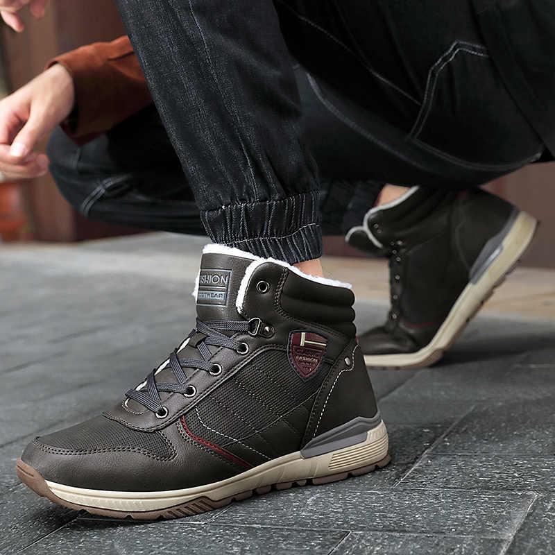 Nieuwe mannen laarzen Wandelschoenen Winter Laarzen voor Outdoor Warme Wollen Sneakers Mannen Duurzaam Enkellaarsjes Trekking Mountain Schoenen