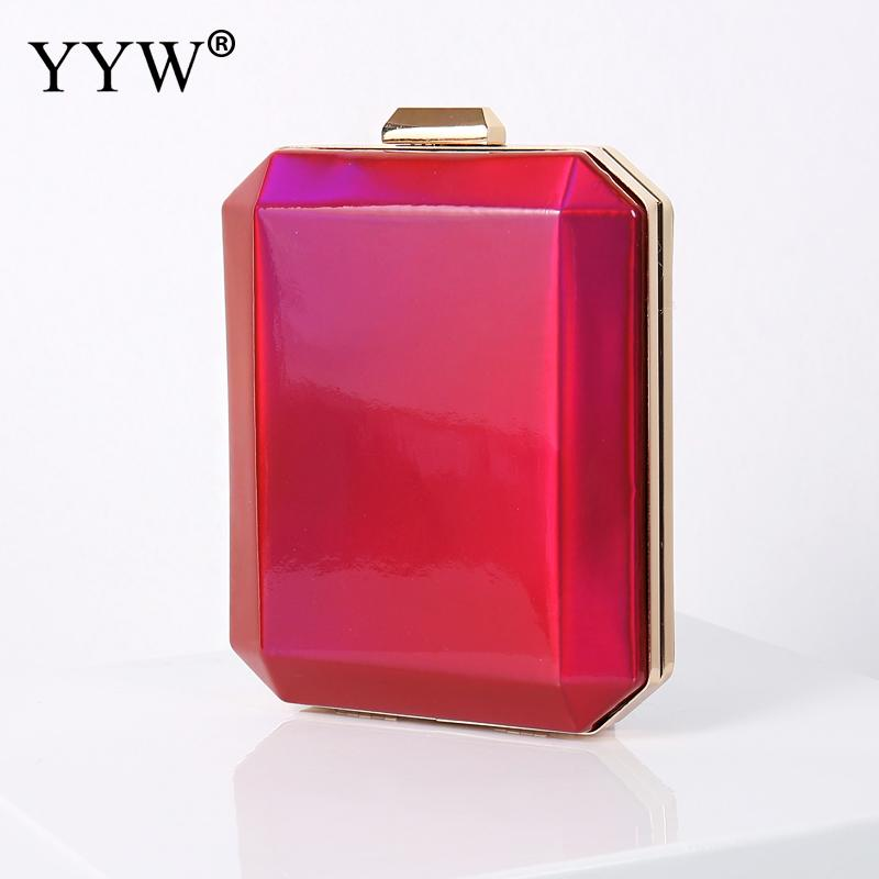 2020 Red Evening Party Clutch Bag With Chain Diamond Women Clutch Purse For Wedding Banquet Champagne Party Handbag Purse Ponch