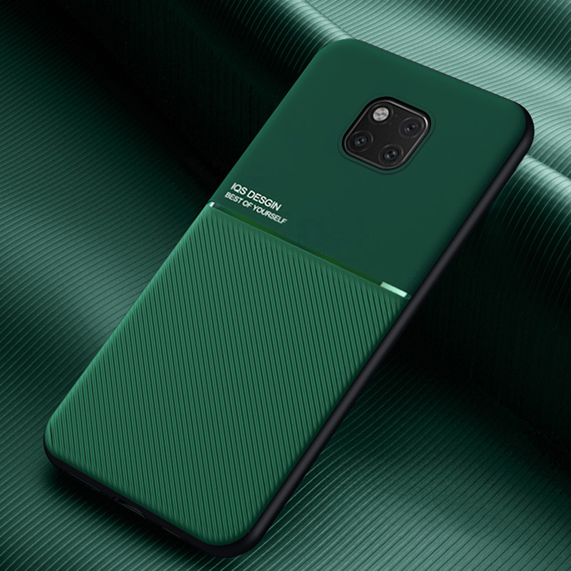 Frosted anti-fingerprint magnetic phone case on for Huawei Mate 20 Pro Mate20 Lite Mate20pro 20pro 20lite soft TPU cover coque(China)