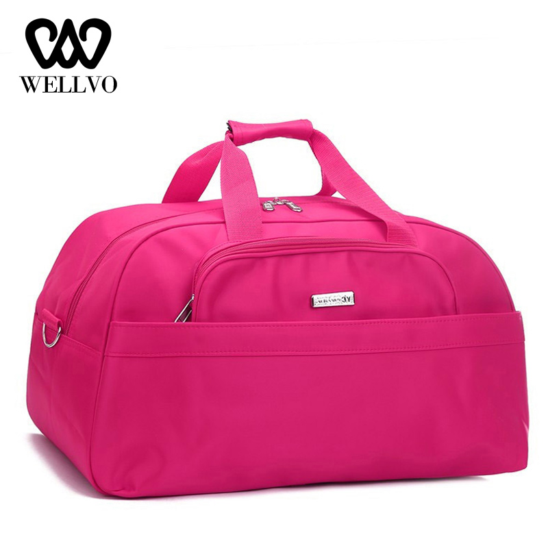 Women Travel Bag Waterproof Duffle Hand Fitness Shoulder Bag Female Overnight Bags Multifunctional Big Traveling Bolsas XA796WB