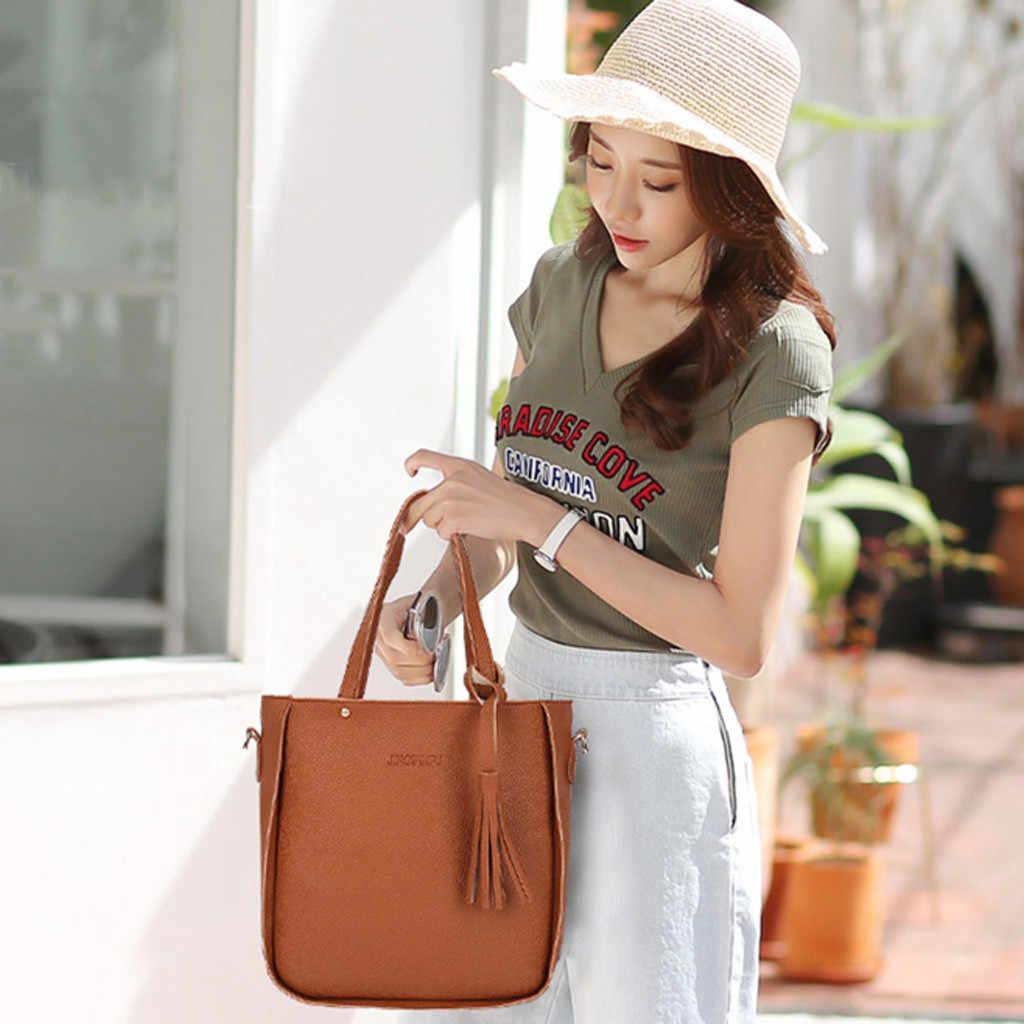 Femme luxe sacs à main femmes sacs designer 2019 nouvelle mode quatre pièces sac à bandoulière Messenger sac portefeuille sac à main livraison directe