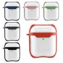 Чехол для Airpods, прозрачный матовый чехол для наушников, аксессуары, Беспроводная Bluetooth Крышка для Apple Airpods pro, чехол, 3 сумки