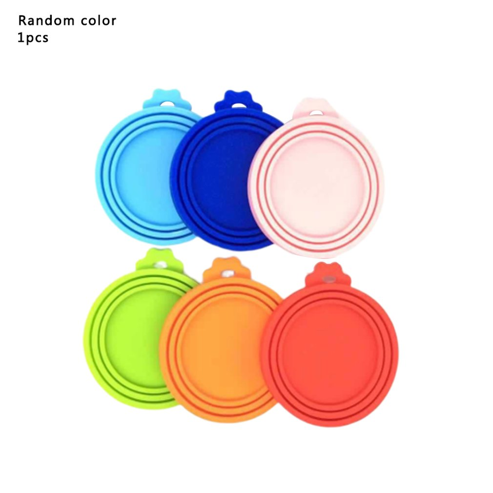 Silicone Fresh-Keeping Cover Multi-Function Pet Silicone Canned Lid Cat Dog Food Seal Cover Fresh Cover Three-In-One