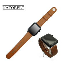 Genuine leather Loop strap For Apple Watch Band 44mm 40mm 42mm 38mm iWatch Band 5 4 3 2 1 Genuine Leather Watchband Bracelet hoco new genuine leather 44 42 40 38mm watchband for apple watch 4 3 2 first layer cattle leather strap bracelet for iwatch