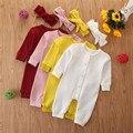Одежда для новорожденных и маленьких девочек; Хлопковый комбинезон; Детский комбинезончик с длинными рукавами; Осенняя одежда для новорожд...